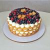 Медовый тортик с ягодным конфитюром и творожным кремом Sweet Cake. Кондитерская студия Ирины Поповой
