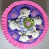 Букет из мишек розовый Оригинальные Букеты